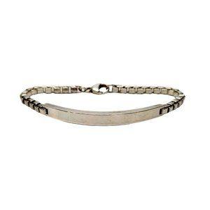 Tiffany & Co Sterling Venetian Link ID Bracelet
